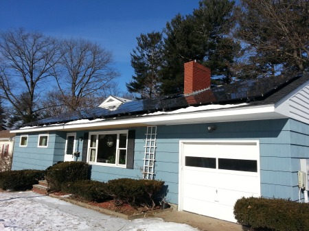 Clear roof! 10:49AM, -2 degrees, 7kW