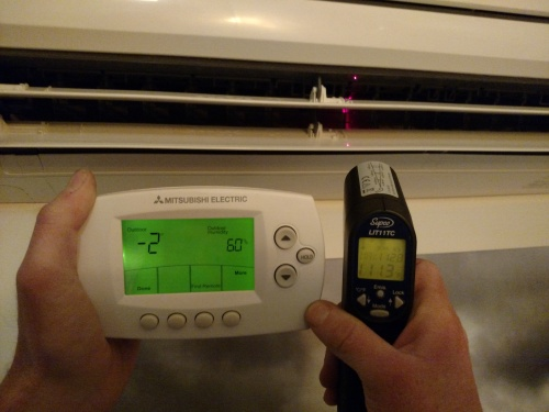 Cold Climate Heat Pump in action